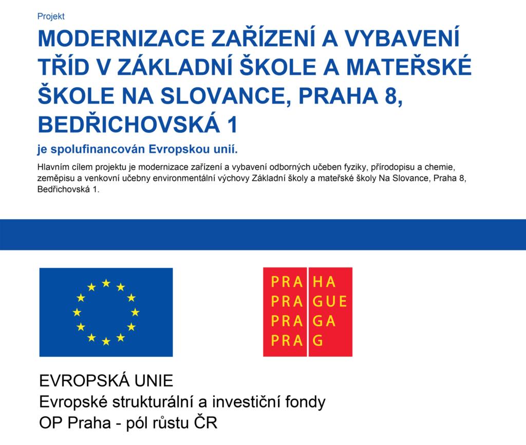 Modernizace zařízení a vybavení tříd - EU